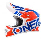 Kask mx O'neal Seria 3 Radium Blue Red White