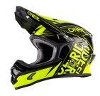 Kask mx O'neal Seria 3 FUEL Yellow Fluo