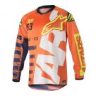 Koszulka cross enduro Alpinestars Brapp Orange Fluo Dark Blue White