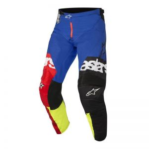 Spodnie Alpinestars Flagship Red Yellow Fluo Blue