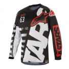 Koszulka cross enduro Alpinestars Racer Braap Black White Red