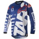 Koszulka cross enduro Alpinestars Racer Braap Blue White Red