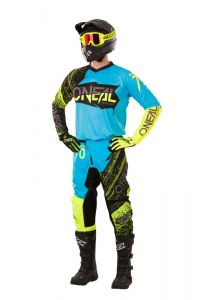 Komplet cross O'Neal Element Burnout Czarno-Niebiesko-HiVis