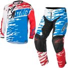 Komplet odzieży motocross Alpinestars Braap Blue Red White
