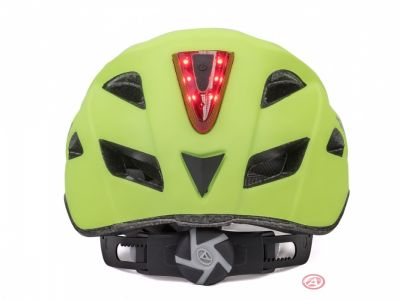 Kask mtb z lampą led Author Pulse Led Zółty