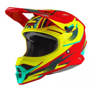 Kask Motocross O`Neal 3SRS RIFF red/neon yellow