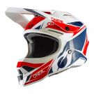 Kask O`Neal 3SRS STARDUST white/blue/red