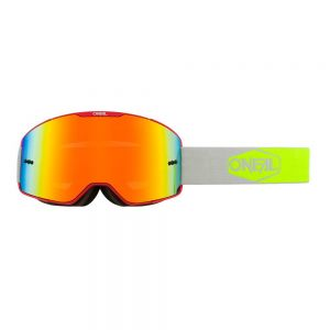 Gogle O`Neal B-20 PLAIN red/neon yellow - radium red