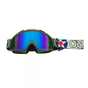 Gogle cross O'neal B10 WARHAWK green/sand - radium