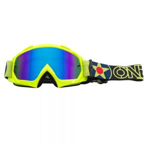 Gogle cross O'neal B10 WARHAWK neon yellow/black - radium