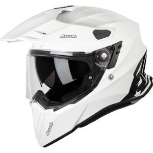 Commander Kask Dual Airoh White Gloss