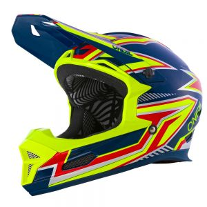 Downhillowy Fullface O'neal Fury Rapid blue/neon yellow