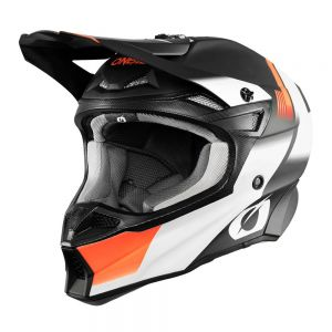 Kask mx O'neal Seria 10 SRS Hyperlite black/orange