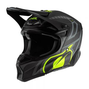 Karbonowy kask O'neal 10SRS Carbon Race black/neon yellow