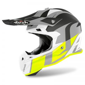 Kask Airoh Terminator Open Vision Shot Yellow Matt
